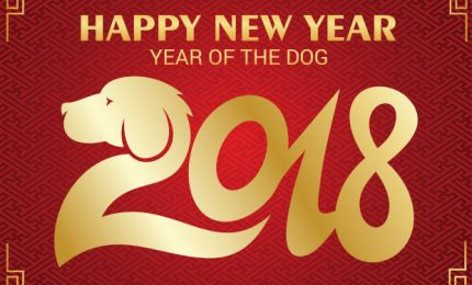 2018, year of the dog, happy new year, lunar new year, chinese new year, korean new year, Tet